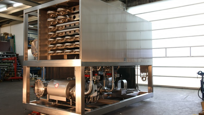 Skid - Crystallizers and heat exchanger